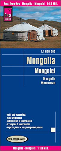 Reise Know-How Landkarte Mongolei (1:1.600.000): world mapping project