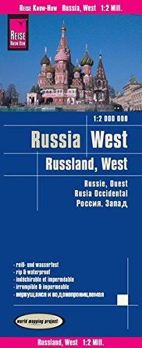 Reise Know-How Landkarte Russland West (1:2.000.000): world mapping project